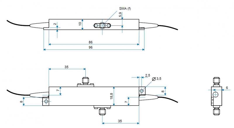 Standard phase and amplitude modulator case (PMXXX, AMXXX)