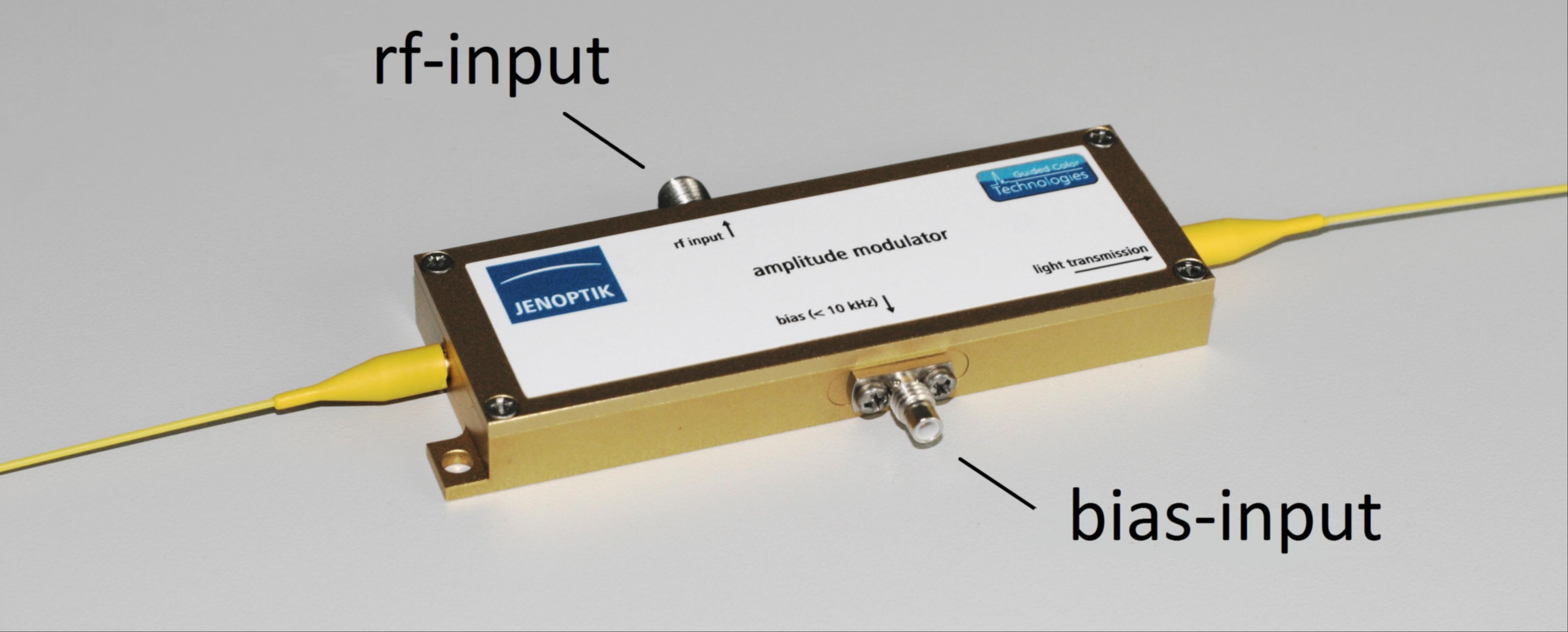 Modulator case with separated bias input