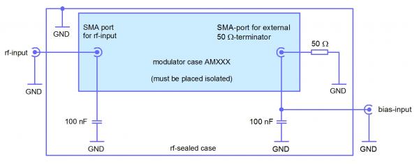 External wiring scheme for bias separation